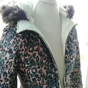 12 Pm By Mon Ami Jackets & Coats - Reversible solid/leopard puffer jacket  size Large